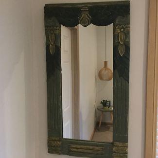Asian framed mirror