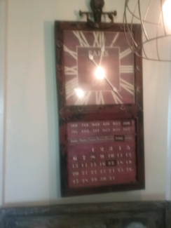 Wall clock with date and month